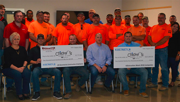 Bommarito Construction team contributing to Children's Hospital KIDstruction program